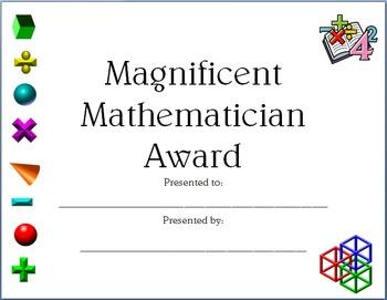 Math Certificate 2