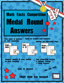 Math Facts Challenge - Medal Round Answer Sheets