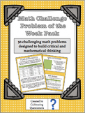 Math Challenge Problem of the Week Pack: Word Problems for