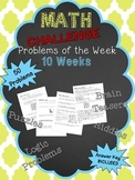 Math Challenge Problems of the Week