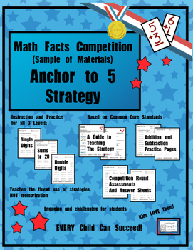 """Math Facts Challenge - Sample of One Strategy: """"Anchor to Five"""""""