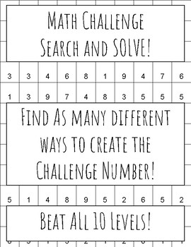 Math Challenge: Search and Solve!
