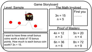 Math Challenge: Video Game Storyboard (Equations)