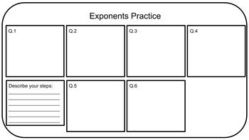 Math Challenge: Video Game Storyboard Using Exponents