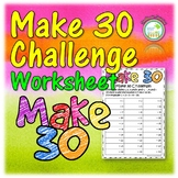 Early Finishers Math Challenge Worksheet