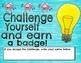 Math Challenge w/Area, Perimeter, Geometry, & Earn a Growth Mindset Badge