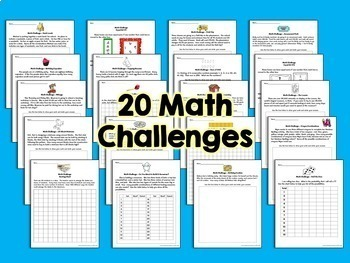 Math Challenges & Brainteasers #2-Perfect Fast Finishers, Homework, & Extensions
