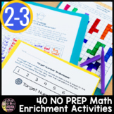 Math Challenges 2nd Grade 3rd Grade Vol. 2 | Math Centers, Homework, Enrichment