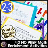 Math Challenges | Math Enrichment | Math Worksheets | Math Brain Teasers 2