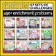 A YEAR of Math Challenges {SUPER BUNDLE} Math Centers,FF,Homework,Extensions