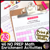 Math Worksheets | Math Challenges or Enrichments | Math Brain Teasers