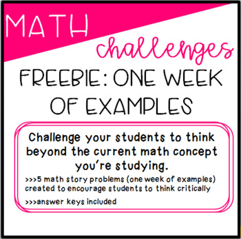 Math Challenges Freebie