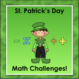 Math Challenges   St. Patrick's Day
