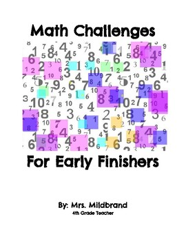 Math Challenges for Early Finishers
