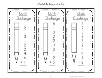 Math Challenges for Fun