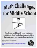 Math Challenges for Middle School - Math Enrichment
