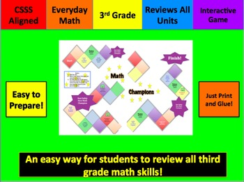Math Champions: Third Grade Math Review Game