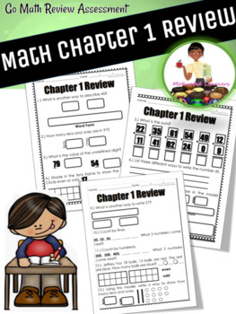 """Chapter:1 Review 2nd Grade """" Go Math"""""""