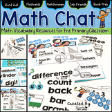 Math Vocabulary Resources: Word Wall Cards, Student Dictionary & Flashcards