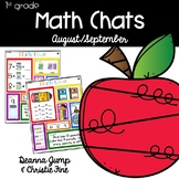 Math Chats FIRST GRADE August/September