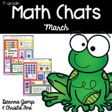 Math Chats FIRST GRADE March