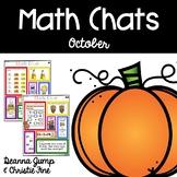 Math Chats FIRST GRADE October