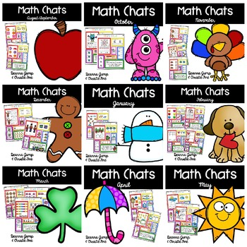 Kindergarten Math Chats Yearlong Bundle
