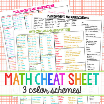 Math Cheat Sheet