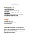 Math Cheat Sheets (5 pages)
