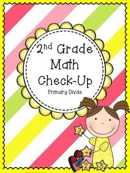 Math Check-Up - Quick Cumulative Assessment for 2nd Grade
