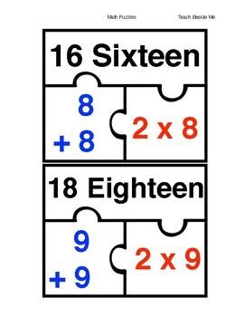 Doubles Math Puzzles