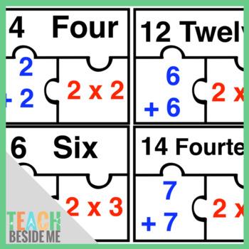 Doubles Math Puzzles by Karyn- Teach Beside Me | TpT