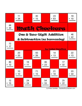Math Checkers! One digit & Two digit addition & subtractio