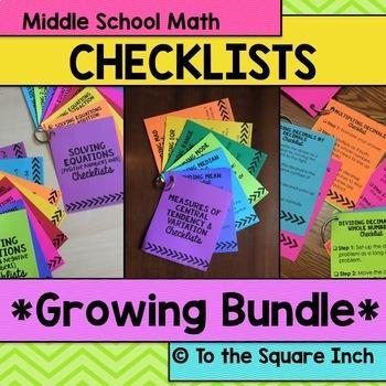 Math Checklist Bundle