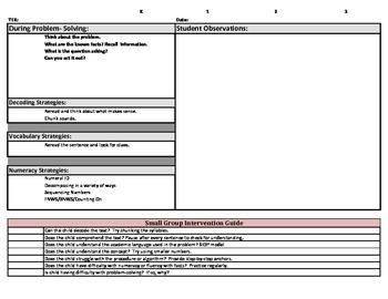 Math Checklist for K-2