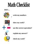 Math Checklist