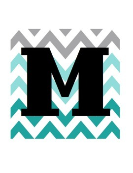 Math Chevron Banner Teal