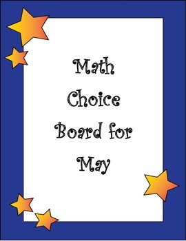 2nd Grade End of Year Math Choice Board