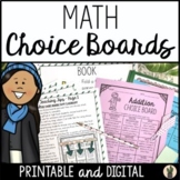 Math Choice Boards and Menus for Enrichment and Early Fini