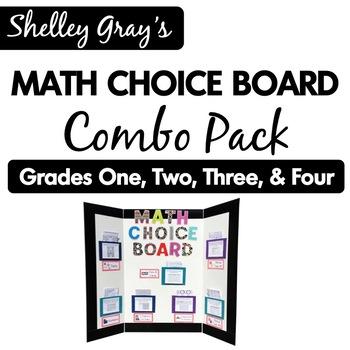 Math Choice Board Mega Bundle: Grades One, Two, Three & Four