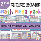 Math Choice Board Mega Pack - All 2nd Grade Standards - Di