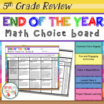 5th Grade Math Projects Mega Pack - ALL CCSS Standards  - Distance Learning