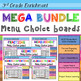 Math Choice Board Mega Pack – Year Long – All 3rd Grade Standards