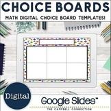 Editable Choice Board Template   Digital   Math