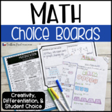 Math Choice Boards