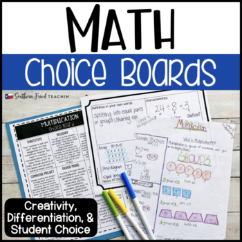 Math Choice Boards