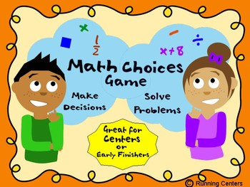 Math Choices Game - Would You Rather? Mixed Skills Task Cards 3rd 4th Grade