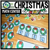 Math Christmas Center: Missing Number Wreaths