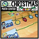 Math Christmas Center: Telling Time Decorations
