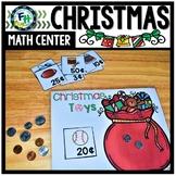 Math Christmas Center: US Money Toy Store